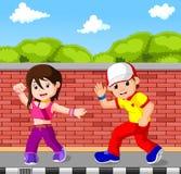 Hip hop dancer cartoon. Illustration of hip hop dancer cartoon Stock Photos