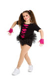 Hip Hop Dancer Child in Pigtails Stock Photo