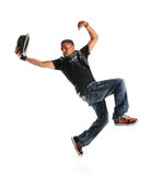 Hip Hop Dancer Dancing With Hat Stock Photography