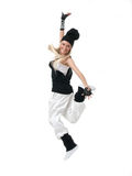 Hip hop dancer. Female hip hop dancer in motion royalty free stock photos