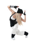 Hip hop dancer. Female hip hop dancer in motion royalty free stock images