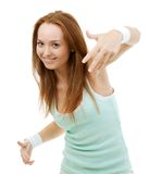 Hip-Hop Dancer Girl Smiling Royalty Free Stock Photo