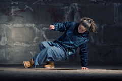 Free Hip Hop Dancer In Modern Style Over Brick Wall Stock Photos - 12776283