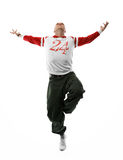 Hip-hop dancer, isolated with clipping pach Stock Photos