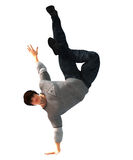 Hip Hop Dancer on a move isolated on white Royalty Free Stock Photography