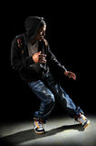 Hip Hop Dancer Performing. With strong directional light Stock Photography