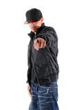 Hip Hop Dancer Pointing royalty free stock image