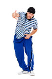 Hip hop dancer pointing at you Stock Image