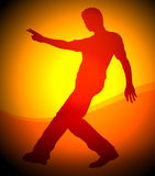 Hip hop dancer pose illustration Royalty Free Stock Images