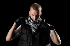 Hip Hop Dancer With Scarf Royalty Free Stock Photo