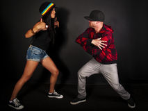 Hip hop dancer series Royalty Free Stock Images
