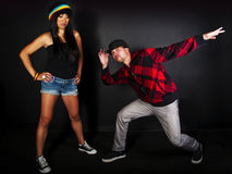 Hip hop dancer series Stock Image