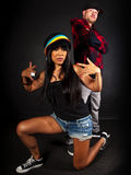 Hip hop dancer series Royalty Free Stock Photos