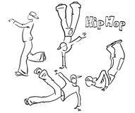 Hip hop dancer set Royalty Free Stock Photography