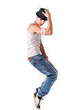 Hip hop dancer showing some movements Stock Image