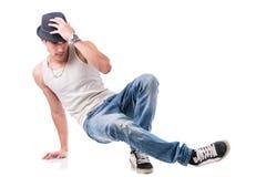 Hip hop dancer showing some movements Stock Photos