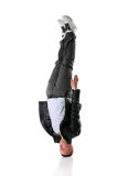 Hip Hop Dancer Standing On Head Royalty Free Stock Images