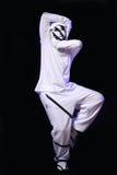 Hip hop dancer in studio Stock Images