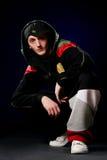Hip hop dancer in studio Royalty Free Stock Images