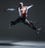 Hip-hop dancer in a studio Royalty Free Stock Photo