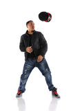 Hip Hop Dancer Throwing Hat Stock Image