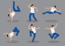 Hip Hop Dancer Vector Icon Set Stock Photo