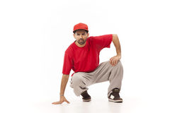 Hip hop dancer  on white Royalty Free Stock Images