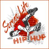 Hip hop dancer on white background Stock Photography