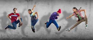 Hip hop dancers Stock Images