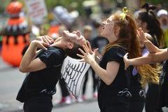 Hip-HOP dancers at Purim parade Royalty Free Stock Photos