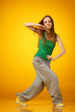 Hip-hop dancing Stock Photography