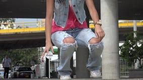 Hip Hop Dancing, Dance, Urban. Stock video of a Hispanic woman stock footage