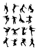 Hip Hop Dancing Silhouette. Art vector design Stock Photo