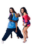 Hip-hop dancing team Stock Photography