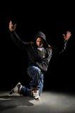 hip hop dancingowy mężczyzna fotografia stock