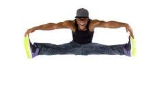Hip Hop dansare Jumping High eller Parkour royaltyfri fotografi