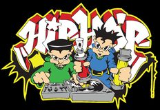 Hip hop deejay graffiti writer Royalty Free Stock Photography