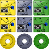 Hip hop disc covers Stock Image
