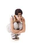 hip hop dziewczyny na posiedzenia slim obraz stock