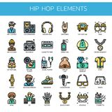 Hip Hop Elements ,  Pixel Perfect Icons Royalty Free Stock Photos