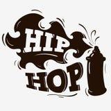 Hip Hop-Etiketontwerp met een Silhouet van de Nevelballon Stock Afbeeldingen