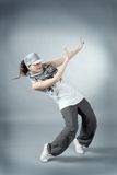 Hip hop female performing Royalty Free Stock Photography