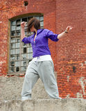 Hip hop female performing and act Stock Photo