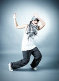 Hip hop female performing Stock Images