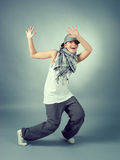 Hip hop female performing Stock Photography