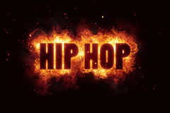 Hip hop fire flames burn burning text explosion explode. Explosion Stock Image