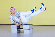 Hip-hop fitness dancer Royalty Free Stock Photography