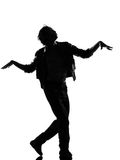 Hip hop funk dancer dancing man Royalty Free Stock Photos