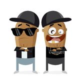 Hip hop gangster rap crew. Clipart of hip hop gangster rap crew Royalty Free Stock Photo