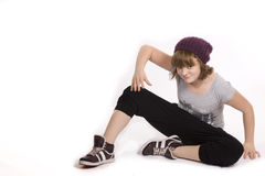 Hip hop girl Stock Images